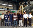 Ambassador visit to troops in Surabaya, at the MERPATI Hanger