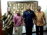 Ambassador with The first PNG Students Leaders of Indonesia
